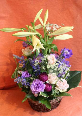 スタンド花 花束 花ギフト 花を贈る フラワーギフト 誕生日花紫