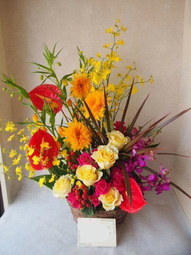 フラワーギフト 花カノシェ|誕生日 花|スタンド花 カノシェ話題