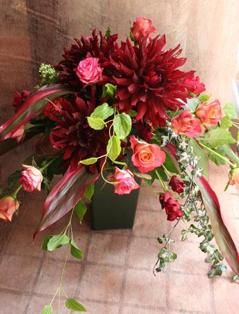 スタンド花 花束 花ギフト 花を贈る フラワーギフト 誕生日花黒蝶