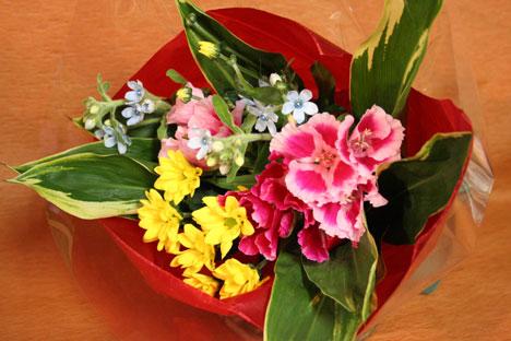 スタンド花 花束 花ギフト 花を贈る フラワーギフト 誕生日花ふくにしさん花束