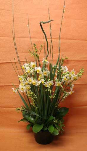 スタンド花 花束 花ギフト 花を贈る フラワーギフト 誕生日花水仙