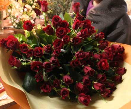 スタンド花 花束 花ギフト 花を贈る フラワーギフト 誕生日花赤バラ