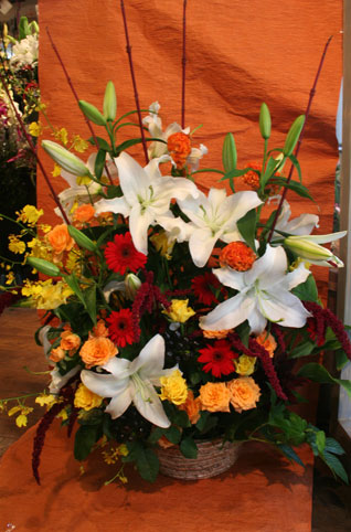 スタンド花 花束 花ギフト 花を贈る フラワーギフト 誕生日花髭男爵様