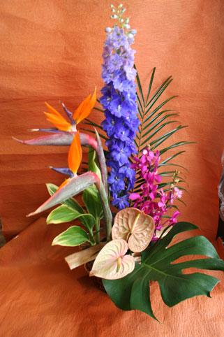 スタンド花 花束 花ギフト 花を贈る フラワーギフト 誕生日花えみこさん南国