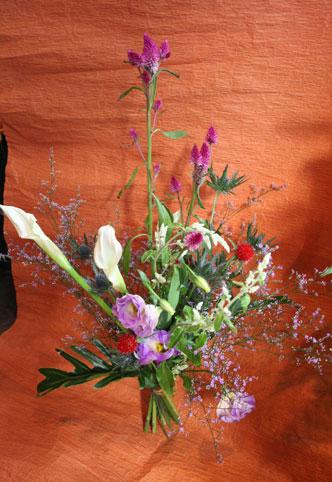 かずえさん カラー花束