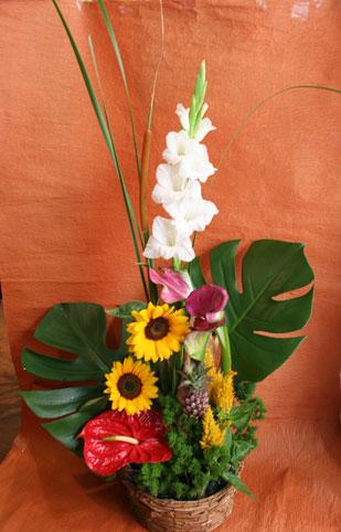 スタンド花 花束 花ギフト 花を贈る フラワーギフト 誕生日花ねもとさん 南国