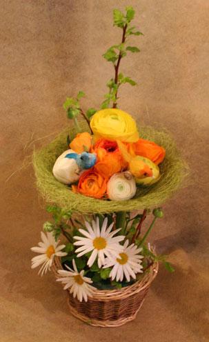 スタンド花 花束 花ギフト 花を贈る フラワーギフト 誕生日花hujiokasan-e-suta--orenji