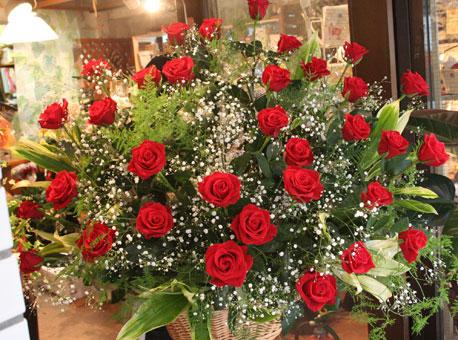 スタンド花 花束 花ギフト 花を贈る フラワーギフト 誕生日花バラ赤