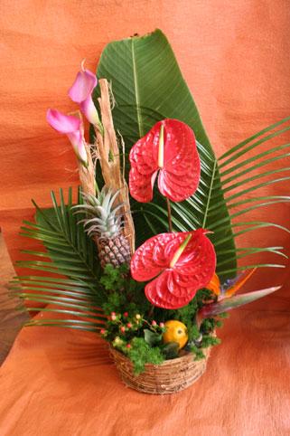 スタンド花 花束 花ギフト 花を贈る フラワーギフト 誕生日花きみえさん 南国