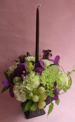 紫キャンドル