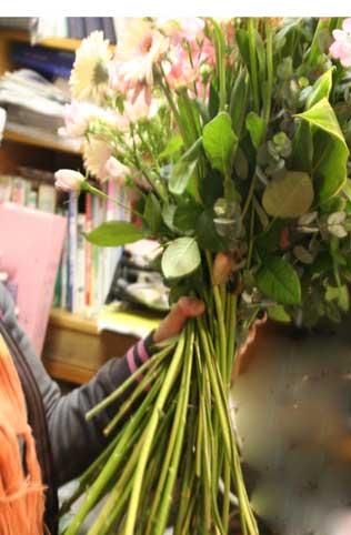 スタンド花 花束 花ギフト 花を贈る フラワーギフト 誕生日花太い茎