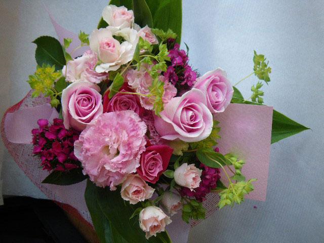 ピンク花束