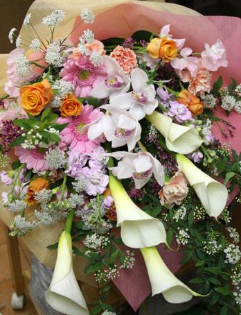 カラー花束